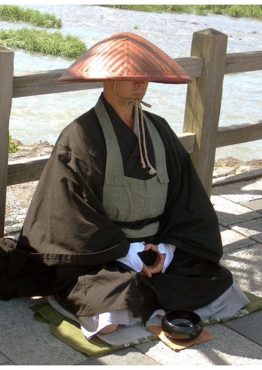 Photo Japanese buddhist monk