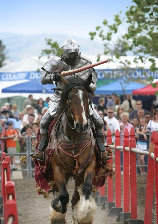 Photo jousting knight