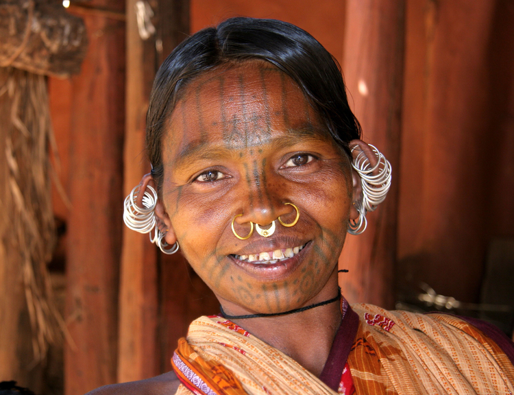 Photo Kutia-kondh woman from India