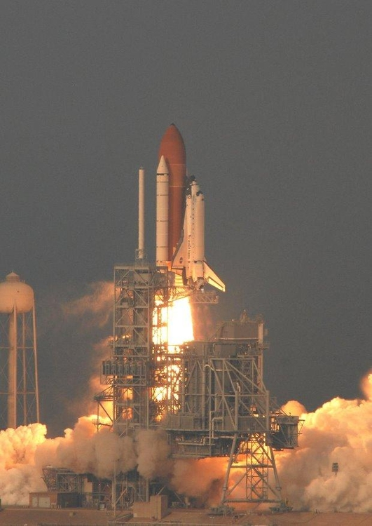 Photo lift-off Space Shuttle