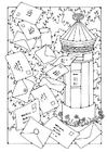 Coloring page Mailbox
