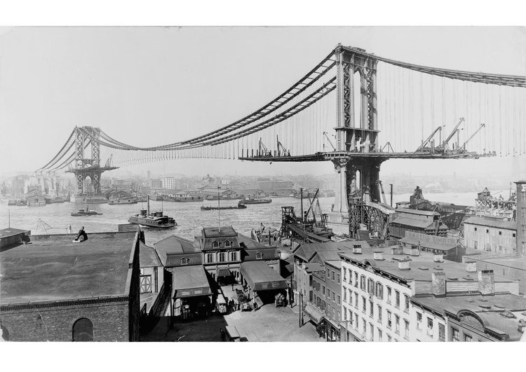 Photo Manhattan bridge construction 1909