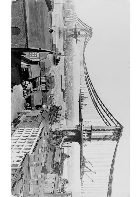 Manhattan bridge construction 1909