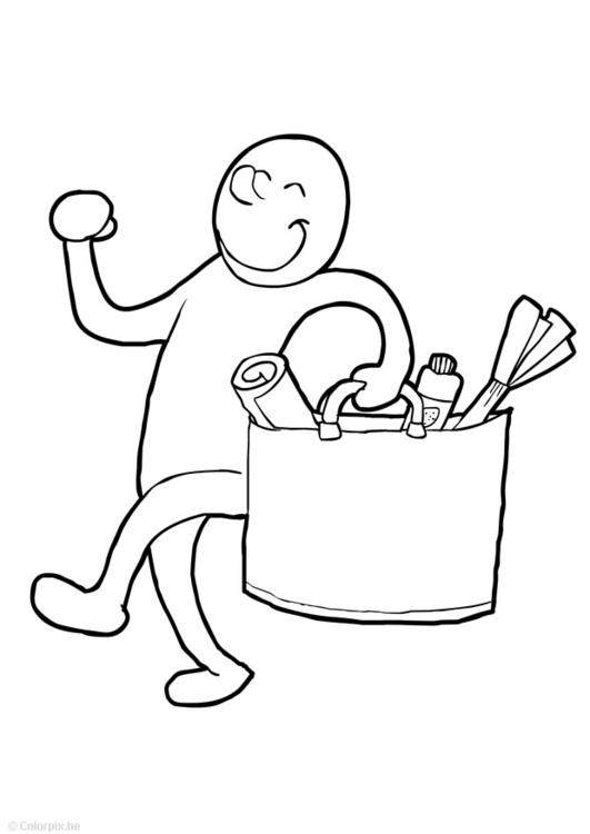 Coloring page MESSENGER - img 14766.