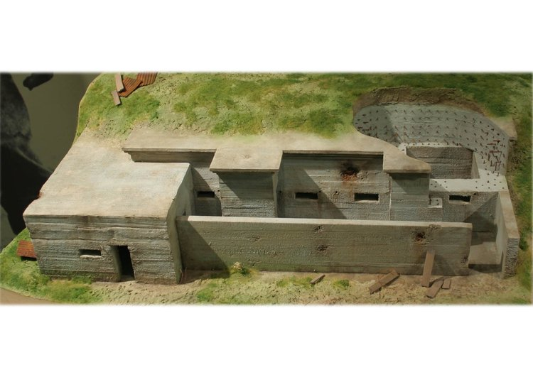 Photo model of a German bunker, 1916