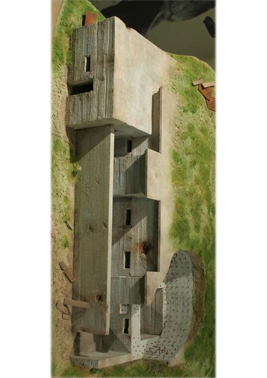 model of a German bunker, 1916