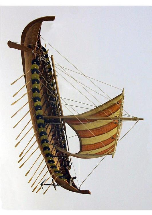 model of Gokstad viking ship
