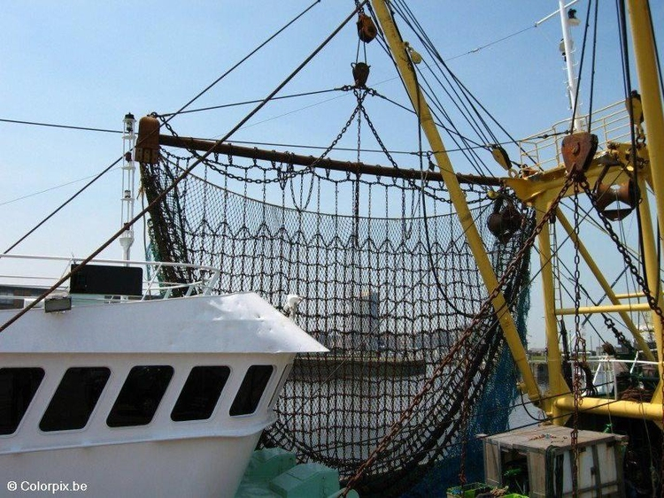 Photo nets fishing boat