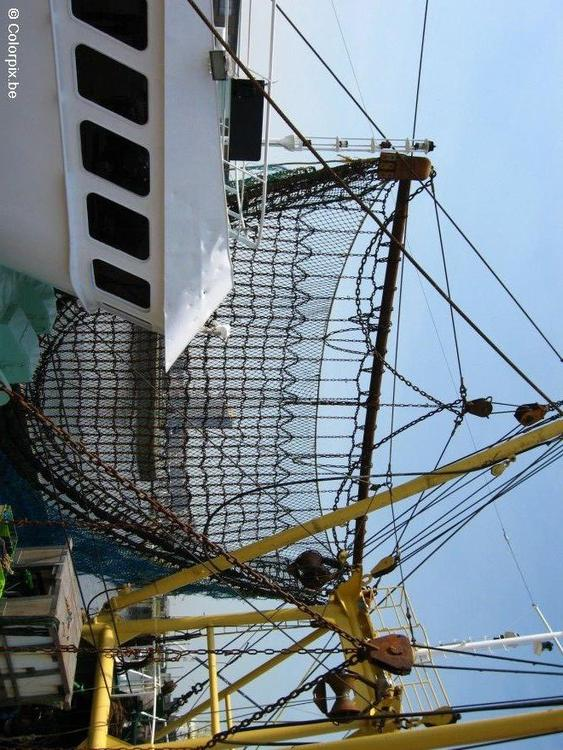 nets fishing boat