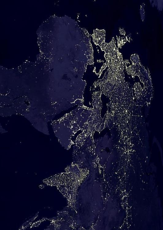 night image Earth, Area 4
