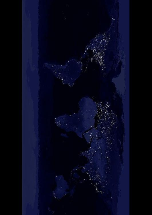 night image Earth