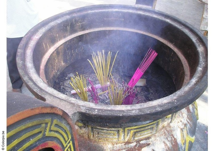 Photo offering of incense