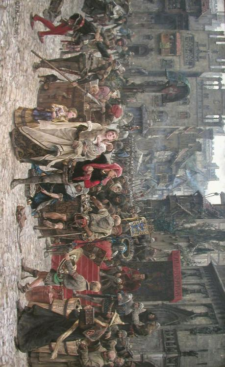 "Pillage of Visby by King Valdemar ""Atterdag"" of Denmark 1361"