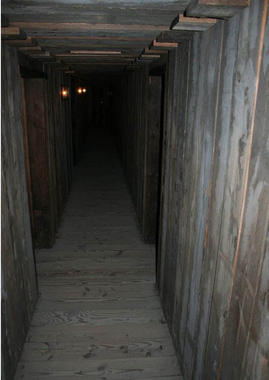 Photo reconstruction of dugout corridors