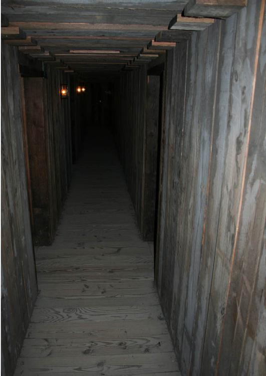 reconstruction of dugout corridors