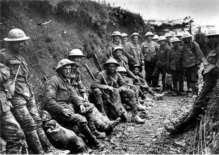 Photo Royal irish Rifles at Battle of Sommes