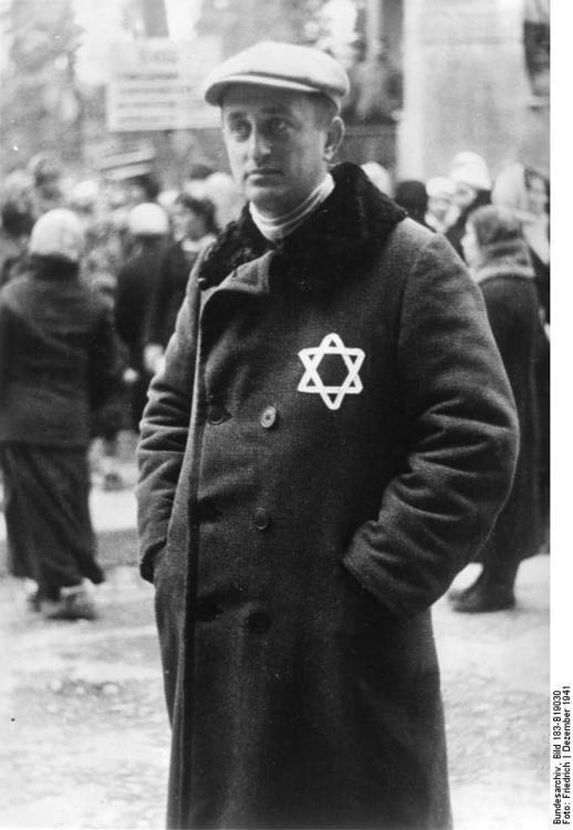 Russia - Man with Jewish Star