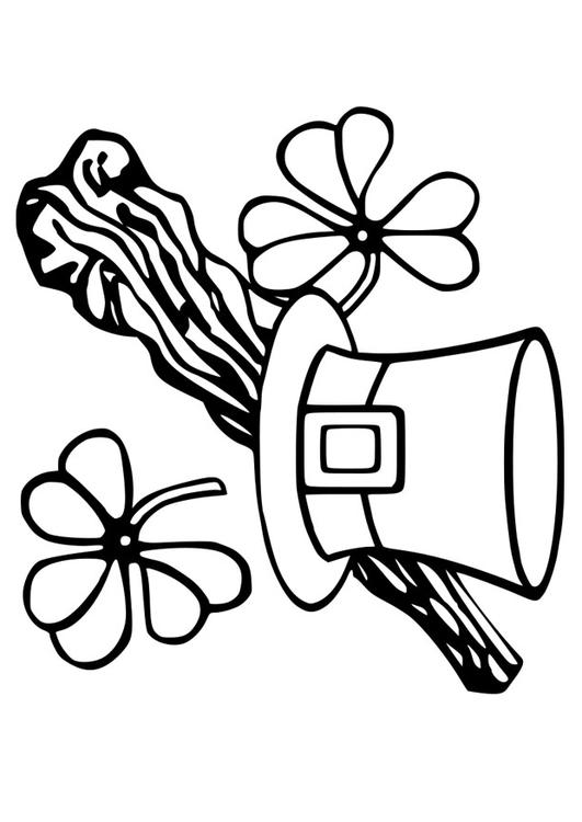 St. Patrick's Day Bow Tie Coloring Page - Free St. Patrick's Day