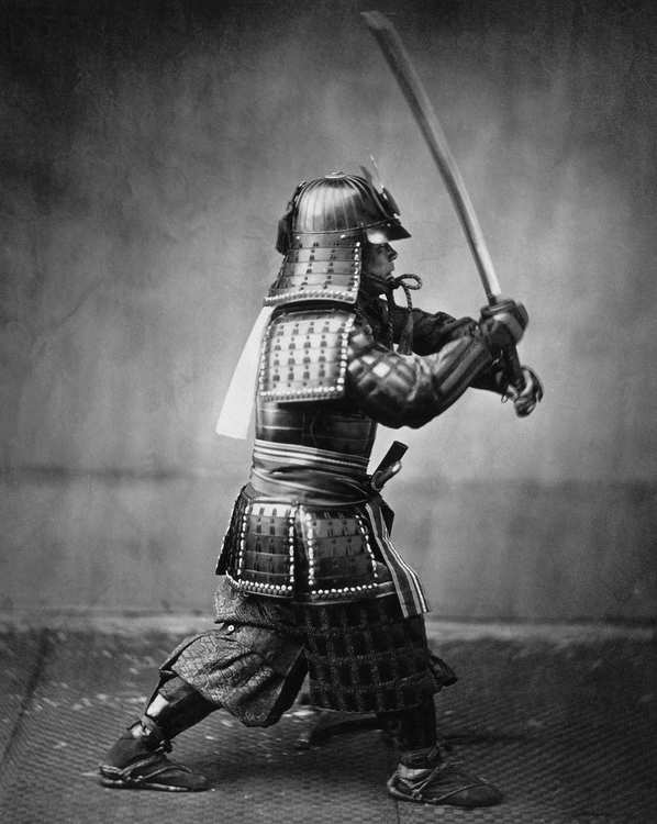 Photo samurai with sword