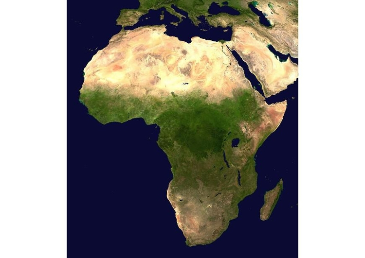 Photo satelite image Africa
