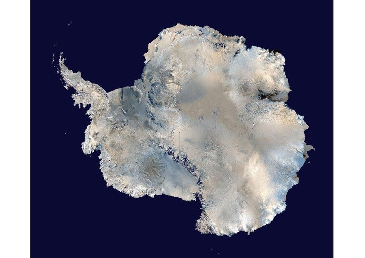 Photo satelite image Antartica