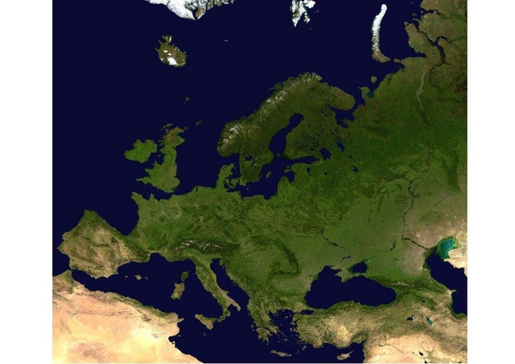 Photo satelite image Europe