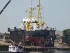 Photo ship in dry dock