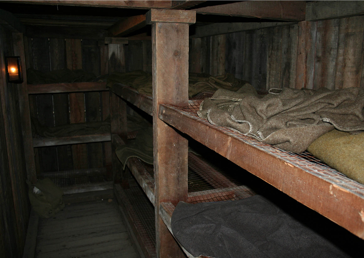 Photo sleep quarters in underground barracks