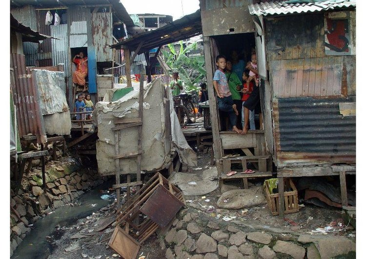 Photo slums in Jakarta