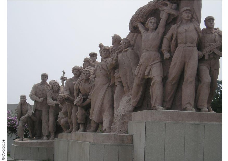 Photo statue at Tienanmen Square
