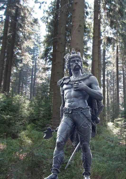 Statue of Ambiorix  in the forest