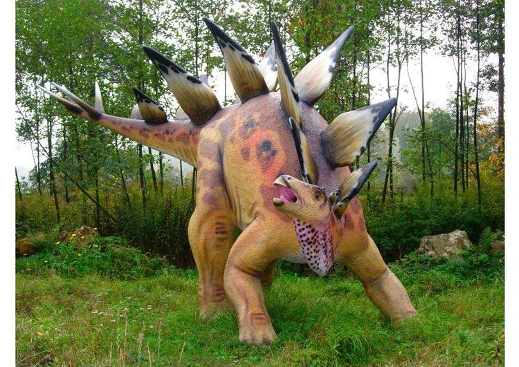 Photo Stegosaur replica