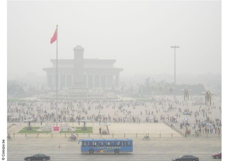 Photo Tienanmn Square with smog