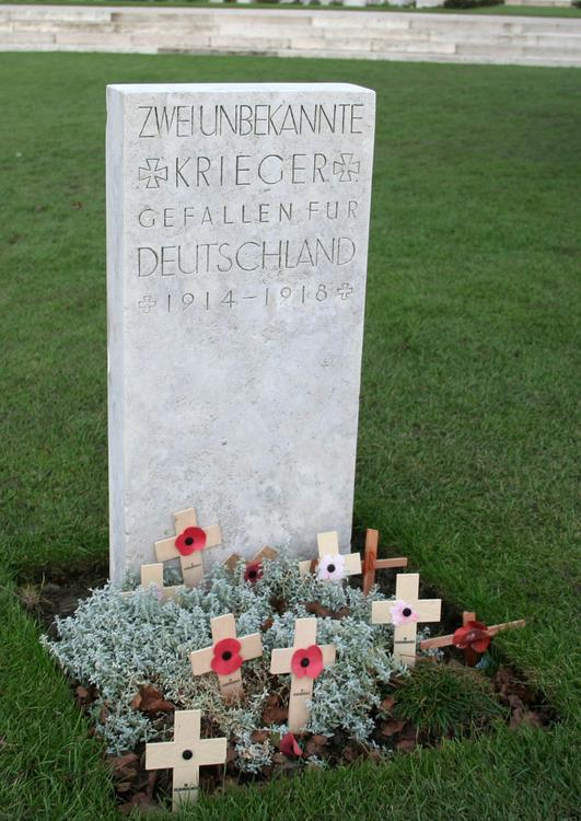 Tyne Cot Cemetary, grave of the German soldier