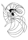 Coloring page to dance