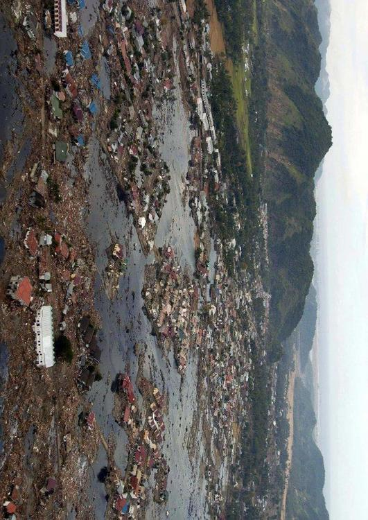 village after tsunami