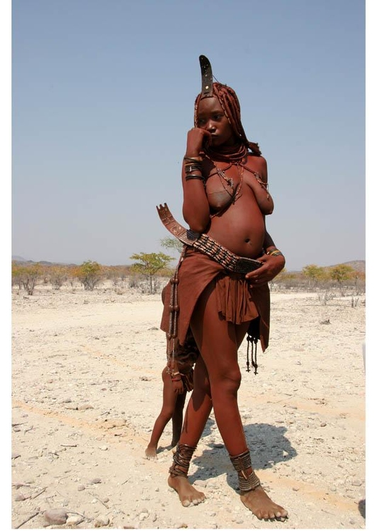 Photo young Himbra woman, Namibia