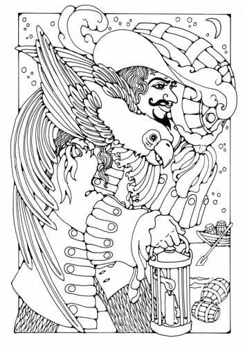 Пиратские раскраски страницу - Контрабандист
