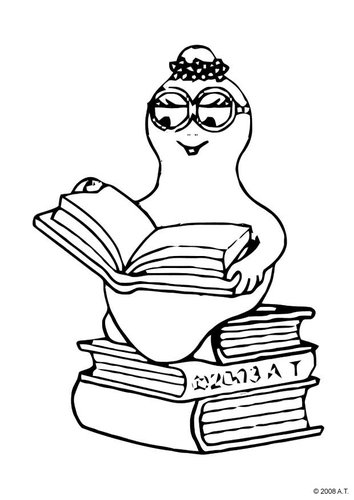 coloring pages children reading. Coloring page reading