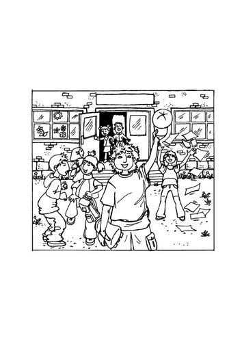 Coloring page school vacation