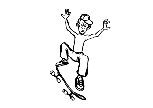 Inventor of the Skateboard Coloring Pages,Who invented the