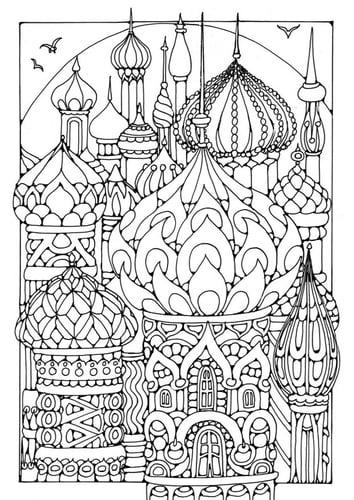 Раскраски страницу башни